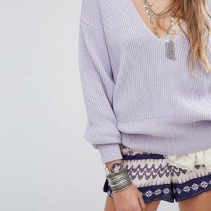 Free People Lavender Allure Pullover Sweater